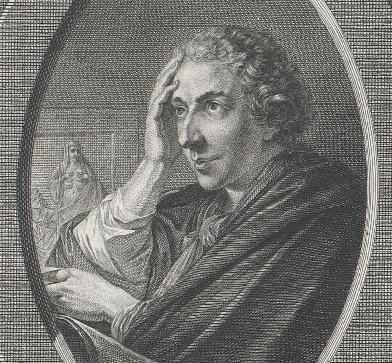 Ignác Anton Born zachytený v momente, keď veľmi pravdepodobne nepremýšľa nad nepriamou amalgamáciou, ani nad Svetovým kongresom hutníkov. Zdroj: Rakúska národná knižnica.