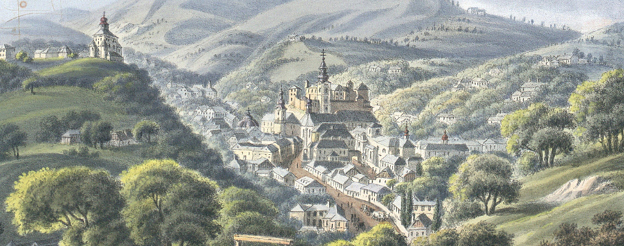 Banská Štiavnica in the year 1825. Resource: Austrian National Library