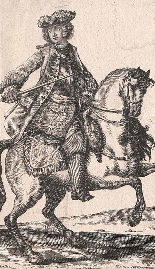Emperor Francis I Lorraine on horse. Resource: Austrian National Library