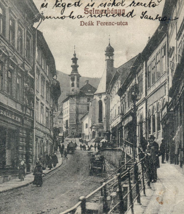Mine owners' pretentious palaces preserved on Andrej Kmeť Street. Resource: Hungarian National Digital Archive