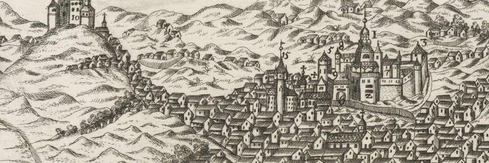 Banská Štiavnica, as seen by an unknown artist, approximately 1590 – 1610. Resource: Art web
